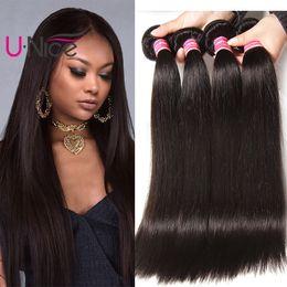 $enCountryForm.capitalKeyWord Australia - UNice Hair 8a Virgin Malaysian Straight Human Hair 5 Bundles 100% Human Hair Extensions Remy Human Weave 8-30 inch Wholesale Cheap Bulk
