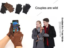 Couple football online shopping - Mens Womens Non Slip Touchscreen Gloves Couple gloves Winter Plus velvet Warm Knit Wool Lined Texting Glove Styles H917Q