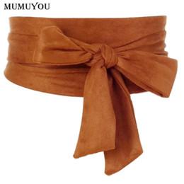 $enCountryForm.capitalKeyWord Canada - Japanese Lady Vintage Waist Belt Bow Cummerbund Lace Up Waistband Slim Dress Belt New Fashion Apparel Accessories 200-A559