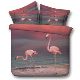 $enCountryForm.capitalKeyWord NZ - 3D Flamingo bedding sets ocean beach theme duvet cover bedspreads comforter cover Bed Linen Quilt Covers bed cover for adults boys men