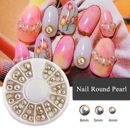 Glue Art NZ - Nail Decoration Pearl Half Round Manicure with Metal Studs Beads Nail Glue Polish UV Gel 3D Art Charm Rhinestones Wrapping