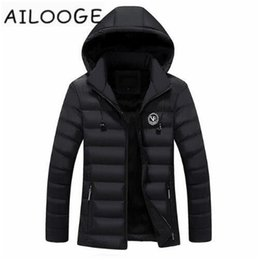 new wave clothing 2019 - New Men Jacket Brand Clothing Fleece Lined Winter Outerwear Fashion Hoody Warm Coats Cotton Padded Male Hooded Parka che