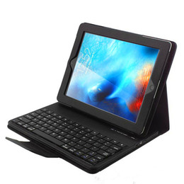 Ipad red leather skIn online shopping - Removable Bluetooth Keyboard for Ipad pro air2 Mini Leather Case Galaxy tab T830 T590 T380