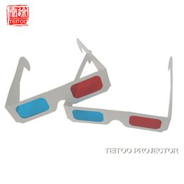 3d glasses dlp online shopping - Paper D Glasses Anaglyph Red Cyan Red Blue D Glass for LCD LED DLP MINI PORTABLE D Projector