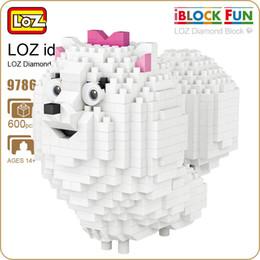 diamond blocks mini loz 2019 - LOZ Blocks Diamond pet dog Micro Building Blocks Figures Cartoon Mini Plastic Assembly Toys Small Blocks Cute Animal Toy