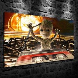 Картина маслом HD печати, детские Грут, стены искусства декора для гостиной Дома Современные украшения обрамленные / без рамы