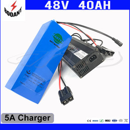 Motor Bicycles Australia - 48V 1800W Electric Bicycle Battery 48V 40AH For Bafang Motor With 5A Charger Built-in 50A BMS Lithium Scooter Battery 48V