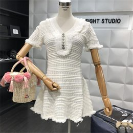 $enCountryForm.capitalKeyWord NZ - 2018 New Summer Knitted Dress for Woman white black mini party dresses female short sleeve Nightclub style celebrities clothes