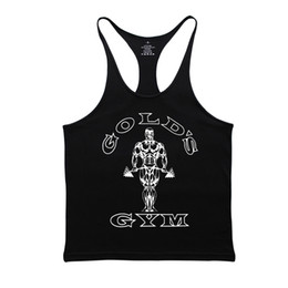 Black vest shirt for men online shopping - Gymwear Fitness Men Muscle Shirt Male Vest Workout Clothes For Men Cotton Mens Bodybuilding Stringer Casual Sportswear Gold