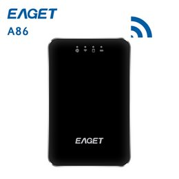 Discount 1tb hard disk - Original EAGET A86 1TB Wirless WiFi USB 3.0 High-Speed External Hard Disk Drives HDD 3G Router 3000mA Polymer Mobile pow