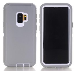 China Defender Case Heavy Duty Hybrid Armor Hard Robot 3 in 1 Cover for Iphone xs max 7 8 Plus 6s Samsung galaxy S10 S9 S8 NO Belt Clip No logo suppliers