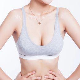 $enCountryForm.capitalKeyWord Australia - 4pcs New Fashion Seamless Wire Free Women 100% Cotton Bust Push Up Bra Underwear Bra 70 75 80 85 Size (32 34 36 38) Sports Bra