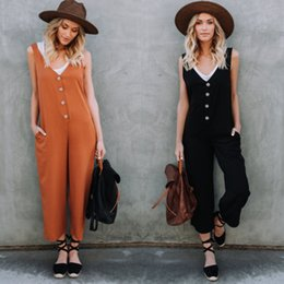 Harem Jumpsuits Women Canada - 2018 New Fashion Hot Selling Casual Women Loose Harem Strap Suspender Jumpsuit Overalls Wide Leg Pants Woman Ladies Playsuit