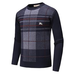 $enCountryForm.capitalKeyWord UK - Wholesale new best-selling high-end casual fashion round neck men's polo sweater brand 100% cotton pullover men's sweater free shipping A22