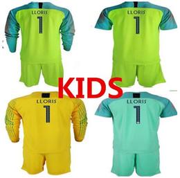 f84166e8c3d ... low price 2018 world cup kids goalkeeper jerseys 1 lloris long sleeve  goalie t shirt kits