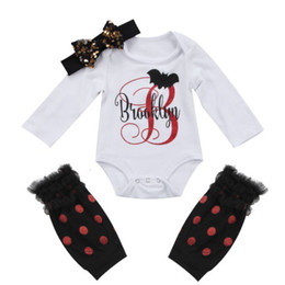halloween 3pcs infant baby girl letter long sleeves romper jumpsuitbow headbandmesh leg warmers cute outfit clothes