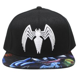 d45950f2864 Avengers Venom Spiderman Hat Baseball Snapback Caps Adjustable Hip Hop Hats  For Adult Boys Girl Cosplay Gift