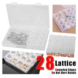 Equipment Storage Boxes Australia - 28 Nail Art Multi-function Storage Box Translucent Nail Art Grids Compartment Plastic Nail Organizer Equipment Convenient Divided Drill Tool