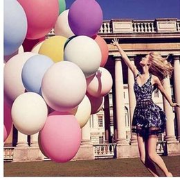 big ball beads Australia - 36 Inches Balloon Balls Helium Inflatable Ball Party Big Latex Balloons Air Beads For Birthday Party Decoration Air Balloons