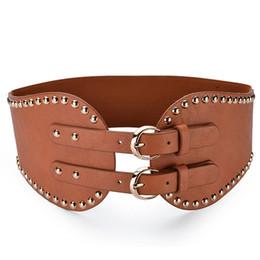 eb2e6cec86ea4 Thick Black Belts Australia - 7.5cm Thick Wide Belt Vintage Waist Women's  Double Buckle Style