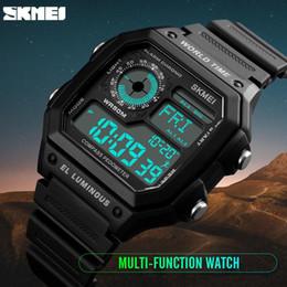 Men Digital Wrist Watches Australia - Countdown Compass Sport Watch SKMEI Mens Watches Top Brand Luxury Men Wrist Watch Waterproof LED Electronic Digital Male