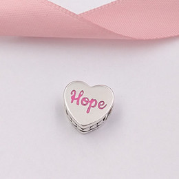 Ribbon style bRacelet online shopping - Authentic Sterling Silver Beads Hope Ribbon Charm Charms Fits European Pandora Style Jewelry Bracelets Necklace ENG792015_1
