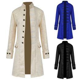 1d0edf1c2d4 Steampunk Retro Men Gothic Brocade Jacket Gothic Vintage Victorian Coat  Fashion Halloween Costume Overcoat Male Clothes