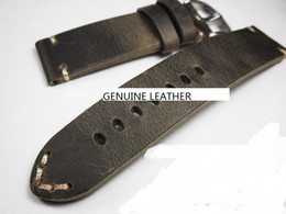 WristWatches Watch parts online shopping - top grade crazy horse leather hand made watch strap bracelet band genuine leather watch strap wristwatch fix parts accessory change