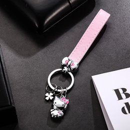 b15fa34ca Cute Anime Movie Cartoon Animal Hello Kitty,Cat, Rabbit, Squirrel, Minions  Keychain Rabbit Fur Pom Pom Fluffy Bag Key Chain Ring