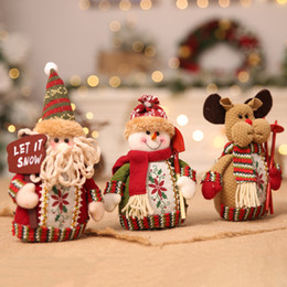 $enCountryForm.capitalKeyWord NZ - 10pcs New Ornaments Sitting Doll Toy children Stuffed Figure Toy Home Table Display Decoration Snowman Reindeer style 40%Off