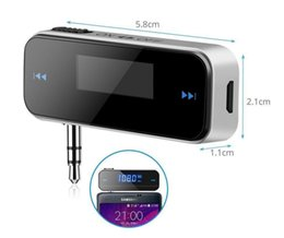 samsung galaxy lcd UK - Wireless 3.5mm Universal LCD Stereo Car FM Radio Transmitter LCD Stereo Audio Player For iPhone Samsung Galaxy ipad Smartphone