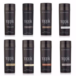 Toppik fibras para la construcción del cabello 27.5g Toppik Fibra capilar Adelgazante Corrector Instantáneo Keratina Polvo para el cabello Aplicador de aerosol negro en venta