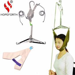 Vente en gros Traction cervicale de Hopeforth au-dessus de la porte Masseur de cou Cou Coupleur Appareil Kit Étirement du cou Étirement Chiropratique Détente de la tête