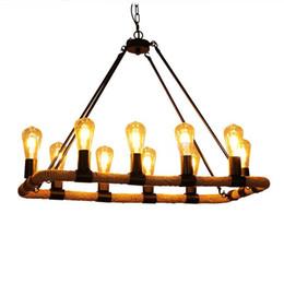 $enCountryForm.capitalKeyWord UK - American Hemp Rope Pendant Lights LOFT Pendant Lamps E27 10 heads Industrial For Living room Clothing Store Cafe Restaurant G139