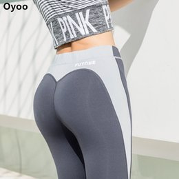 Discount sexy gym clothes - Oyoo heart shape exercise gym tights sexy butt contrast sport athletic leggings women grey jogging yoga pants gym clothe