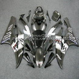 Bodywork Yamaha R6 NZ - custom+5Gifts Injection mold west black bodywork hull motorcycle body kit for Yamaha YZF-R6 06 07 YZF R6 2006 2007 ABS Fairing