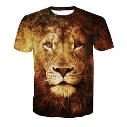 857c3725 Lion Print T-Shirt Fitness Plus Size Men Tees Casual Harajuku 6XL t shirts  Hip Hop New Arrival Tees Gothic Animal Streetwear