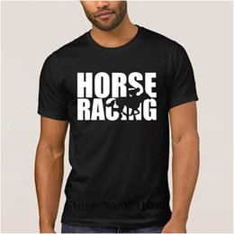 $enCountryForm.capitalKeyWord Australia - La Maxpa Creative fashion horse race t shirt for mens summer Flower Horse Soft t-shirt men large Short Sleeve tee shirt men