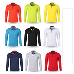 Polo Xs NZ - New 2017 Autumn Men Polo Shirt Mens Long Sleeve Solid Polo Shirts 94 %Cotton Good Quality Plus Size Xs -3xl