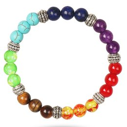 $enCountryForm.capitalKeyWord Australia - New Fashion Stone Bead Jewelry 7 Reiki Chakra Healing Balance Beaded Bracelet For Women Prayer Balance Stretch Yoga Men Bracelets