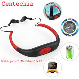 Waterproof Mp3 Player Sport Headphone Australia - Portable Waterproof MP3 IPX8 Music Player Underwater Sports Neckband Swimming Diving with FM Radio Earphone Stereo Headphone mp3