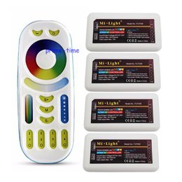 Wireless Touch Rgb Controller Australia - MiLight RGB CCT (RGB+Cool White+Warm White) Controller DC12-24V 2Ax5CH FUT039 + 2.4G RF Wireless RGB+CCT 4-Zone Touch Remote