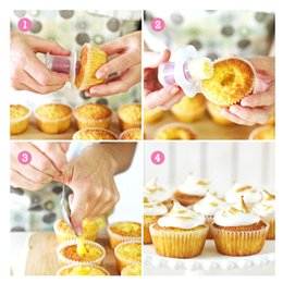 Cupcake Muffins Cake Australia - Creative DIY Cake Muffin Cupcake Filler Core Snacks Decoration Mold Pastry Decorating Hole Filler Baking Decoration Tools