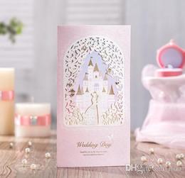 $enCountryForm.capitalKeyWord NZ - Laser cut wedding invitations cards Personalized Gold Lace Castle Wedding Cards Invitations Unique Pink Wedding Invitations