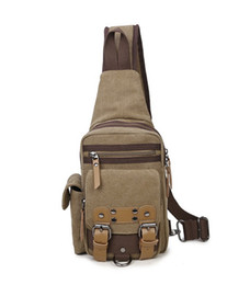 coffee bag purses Australia - New men Canvas Cross body messenger bags male vintage ancient casual travel purses shoulder chest phone bags coffee grey color no60