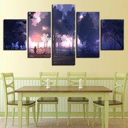 Art Canvas Prints Australia - Home Bedroom Wall Decoration Art Modern Prints 5 Pieces Forest Sunshine Scenery Painting Framework Poster Modular Canvas Picture