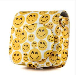 China New Arrivals Smiling Face Case PU Pouch Camera Bags With Strap Protector Cover For Fujifilm Instax Mini 8 8+ 9 suppliers