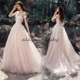 $enCountryForm.capitalKeyWord Australia - Light Pink Lace Garden Princess Wedding Dresses 2018 Modest Custom Make Sweetheart Full Length Forest Woods Wedding Gown