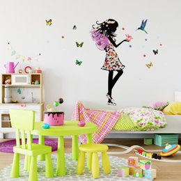 Large Metal Wall Art Australia - Wholesale Butterfly&Angel Wall Sticker Wallpaper Wall Picture Art Vintage Room Home Decor Kitchen Accessories Household Craft Suppllies