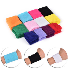 wristband guard 2019 - Random Tower Wristband Sports Protector 2PCS Tennis Basketball Badminton Wrist Support Sweatband Cotton Gym Wrist Guard